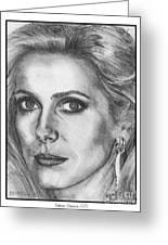 Catherine Deneuve In 1976 Greeting Card by J McCombie
