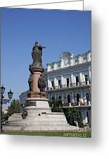 Catherine The Great Statue Odessa Greeting Card