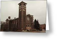 Catholic Church In Lewesiton  Greeting Card