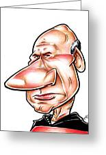 Catian Jean Luc Picard Greeting Card by Big Mike Roate