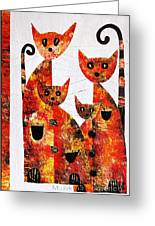 Cats 727 Greeting Card