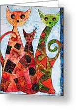 Cats 737 - Marucii Greeting Card