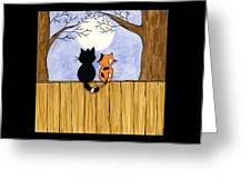 Cats Night Out Greeting Card