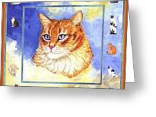Cats Purrfection Five - Orange Tabby Greeting Card