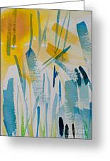Cattail Sun Greeting Card