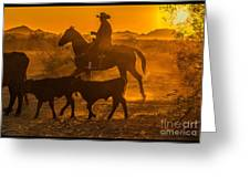 Cattle Drive 13 Greeting Card