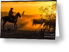 Cattle Drive 14 Greeting Card