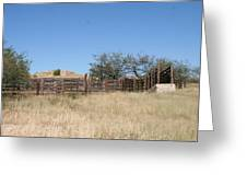 Cattle Pen Greeting Card
