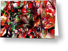 Caught In The Crowd Two Water Color And Pastels Wash Greeting Card