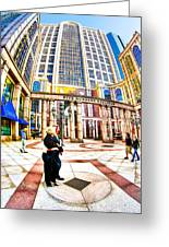 Caught In The Geometry Of Boylston Street Greeting Card