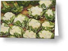 Cauliflower March Greeting Card by Jen Norton