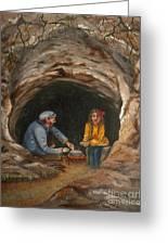 Cave Dwellers Greeting Card