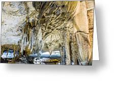 Cave Wall Formations Greeting Card