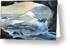 Cave Wave By Chris Greeting Card