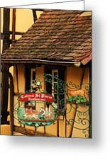 Caveau St Pierre Sign In Colmar France Greeting Card