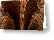 Caverns Of Wood Greeting Card