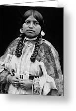 Cayuse Woman Circa 1910 Greeting Card