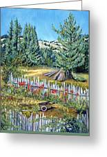 Cazadero Farm And Flowers Greeting Card