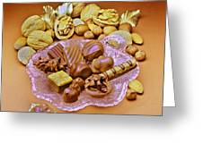 Cchocolates And Sweets Greeting Card