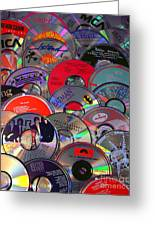 Cd Collage Greeting Card
