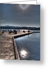 Cd'a Lake Walkway Greeting Card