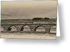 Ceasarea Aqueduct 1 Antiqued Greeting Card