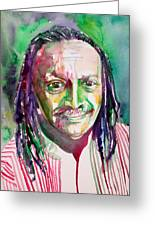 Cecil Taylor - Watercolor Portrait Greeting Card