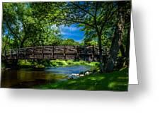 Cedar Creek Bridge Greeting Card