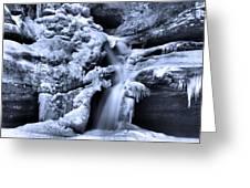 Cedar Falls In Winter Greeting Card