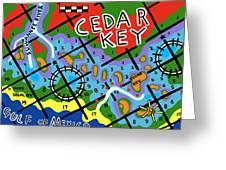 Cedar Key Chart Greeting Card