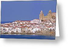 Cefalu Greeting Card by Giorgio Darrigo