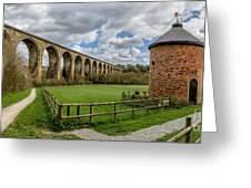 Cefn Viaduct Greeting Card by Adrian Evans