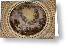 Ceiling Fresco - Cupola Capitol Washington Dc Greeting Card