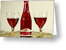 Celebrate With Sparkling Rose Wine Greeting Card