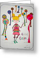 Celebrating Color Greeting Card by Mary Kay De Jesus