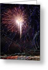 Celebration Fireworks Grand Lake Co 2007 Greeting Card