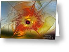 Celebration For A Rising Star-abstract Fractal Art Greeting Card
