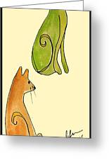 Celery And Carrots. A Pair Of Silly Cats.  Greeting Card