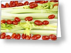 Celery And Tomatoes Greeting Card