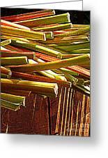 Celery In The Sun Greeting Card