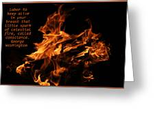 Celestial Fire Greeting Card