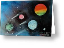 Celestial Planets Greeting Card