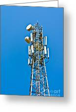 Cell Tower And Radio Antennae Greeting Card