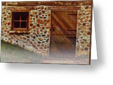 Cellar Door In The Mist Greeting Card by Jack Zulli