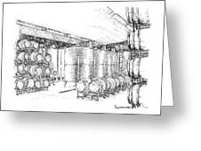 Cellars Of Marynissen Winery Drawing by Steve Knapp