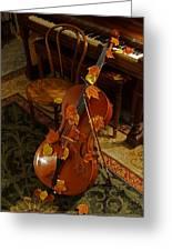Cello Autumn 1 Greeting Card