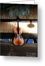 Cello Neck Blues Greeting Card