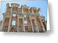 Celsus Library In Ephesus Greeting Card