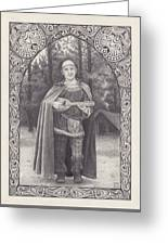 Celtic Bard Greeting Card by Tania Crossingham