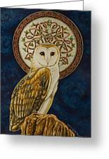 Celtic Barn Owl Greeting Card